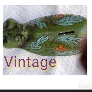 Vintage 70's hippo piggy bank